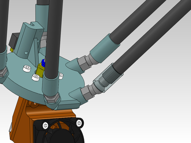 打印机磁力套件 3D打印模型渲染图