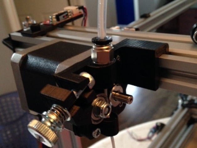 直线驱动鲍登挤出机 3D打印模型渲染图