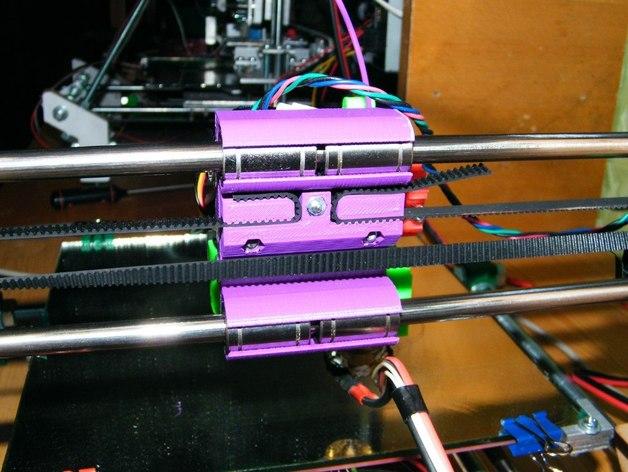 侧边锁固装置 3D打印模型渲染图