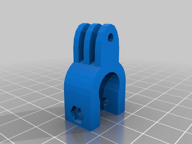 Raspberry Pi 树莓派相机支架 3D打印模型渲染图
