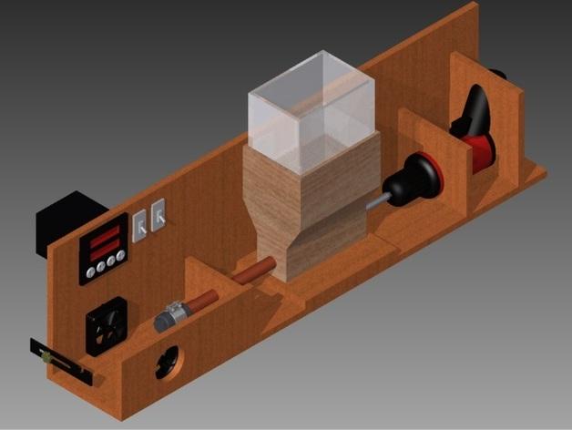 材料挤出机 3D打印模型渲染图