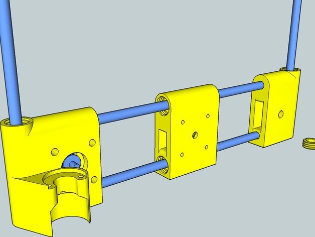 OneUp/ TwoUp框架 零部件 3D打印模型渲染图