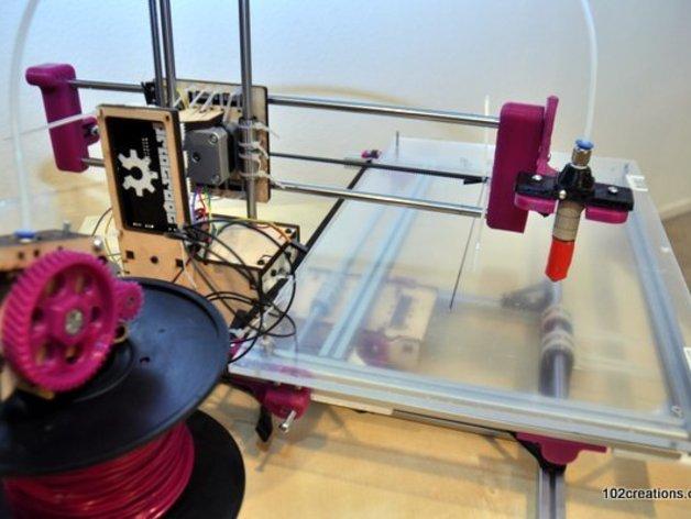 Printrbot Simple打印机部件 3D打印模型渲染图