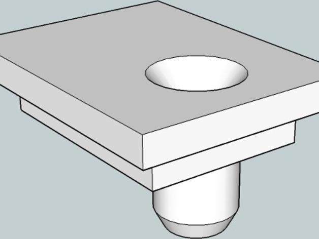 挤出机导线器 3D打印模型渲染图