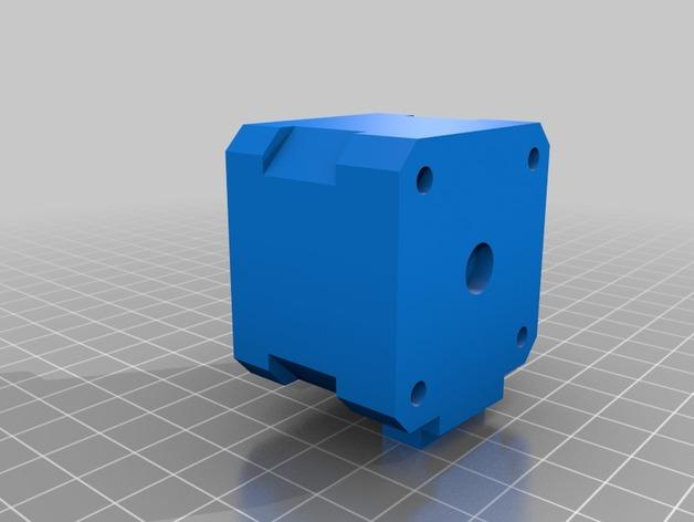 NEMA 17步进电机盒 3D打印模型渲染图