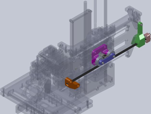 正时皮带套件 3D打印模型渲染图