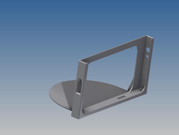 车载式三星Note 2手机支架 3D打印模型渲染图