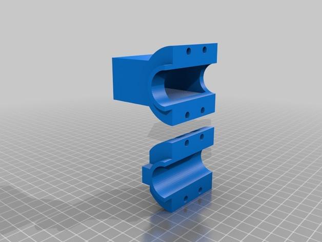材料挤出料斗 3D打印模型渲染图