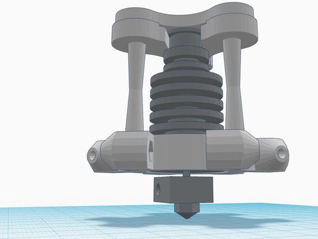 喷嘴支架 3D打印模型渲染图
