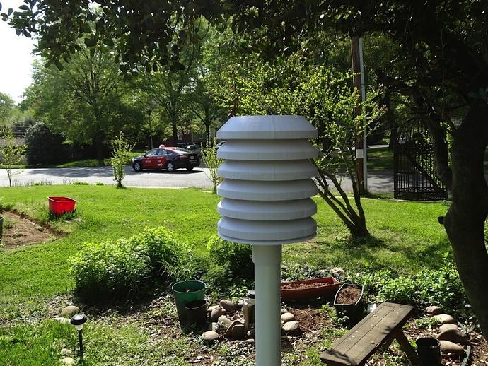 无线气象传感器百叶箱外盒 3D打印模型渲染图