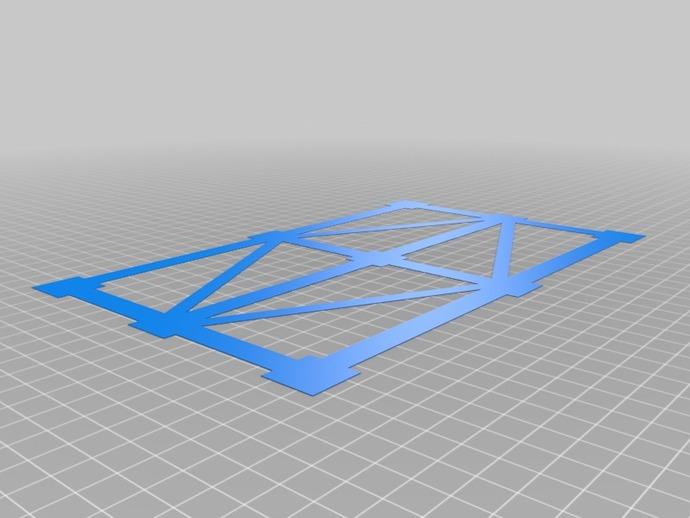 调平测试 3D打印模型渲染图