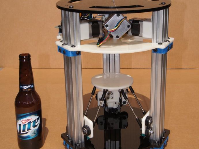 迷你 Delta式打印机 3D打印模型渲染图