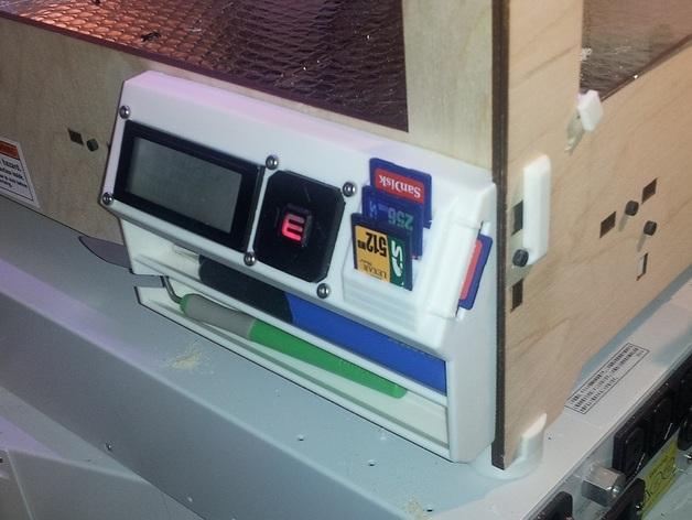 Replicator打印机仪表盘外框 3D打印模型渲染图