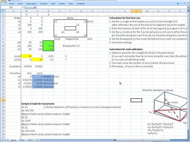 调平器套件 3D打印模型渲染图