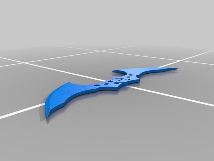 蝙蝠飞镖 3D打印模型渲染图