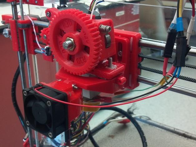 Prusa i3打印机X轴的滑块适配器 3D打印模型渲染图