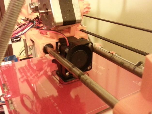 Greg's Wade挤出机风扇导管 风扇支架 3D打印模型渲染图