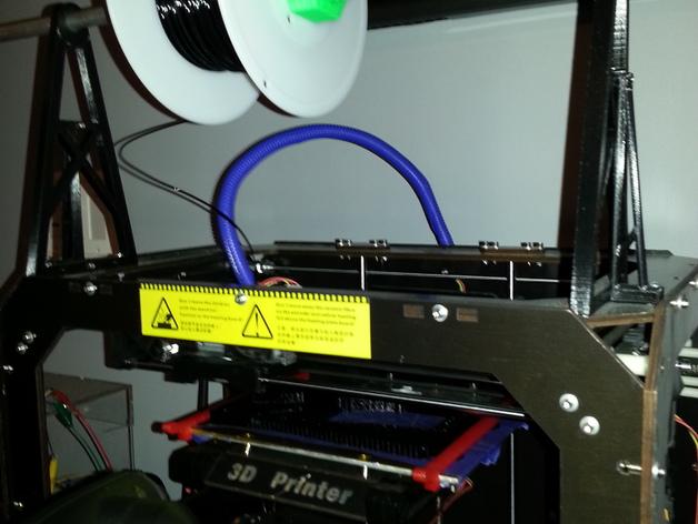 打印机线轴支架 3D打印模型渲染图