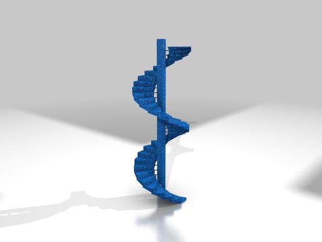 天国的阶梯 打印测试  3D打印模型渲染图
