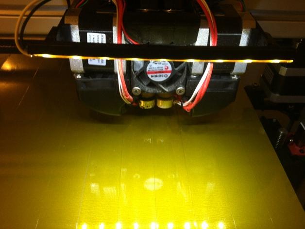 打印机光棒支架 3D打印模型渲染图