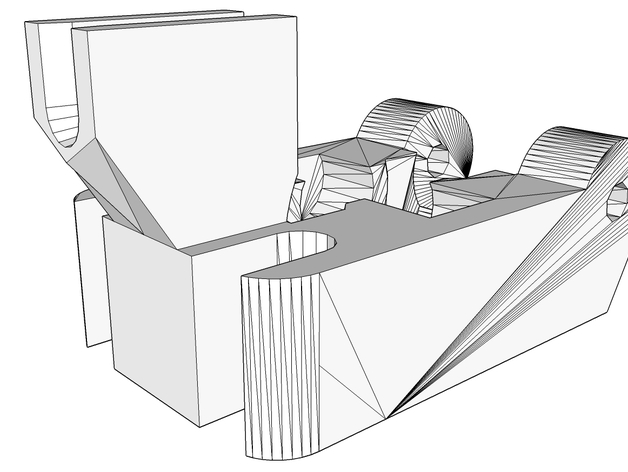 挤出机线材导线器 3D打印模型渲染图