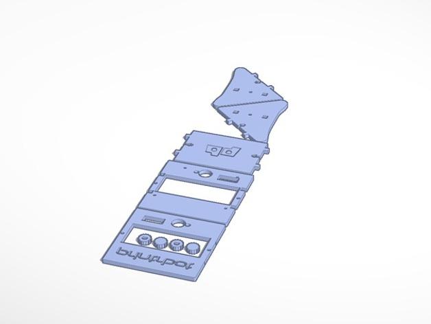 控制器显示屏保护外盒 3D打印模型渲染图