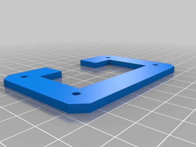 Rigidbot打印机后部电源支架外框