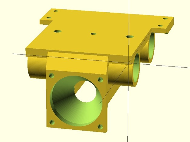 J-Head喷头支架 风扇支架 3D打印模型渲染图