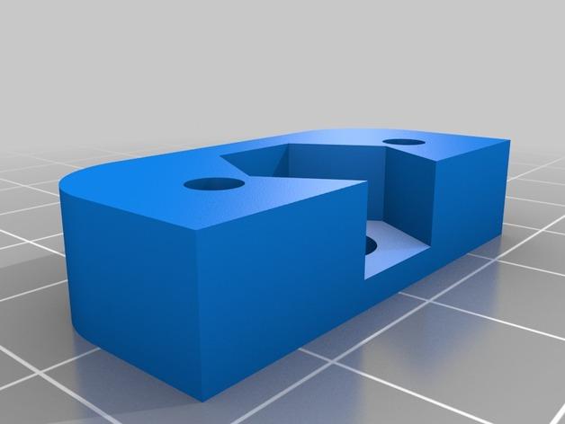 Prusa i3v 打印机Z轴螺母板 3D打印模型渲染图