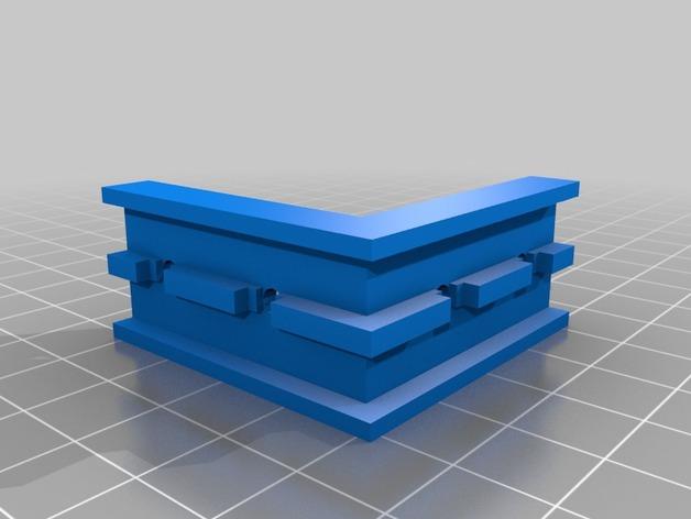 Openbeams打印机右拐角保护器 3D打印模型渲染图