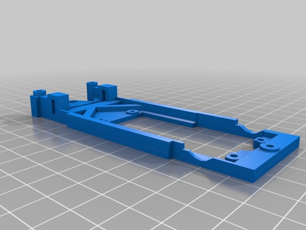 spirit peugeot 205标致汽车模型底盘 3D打印模型渲染图