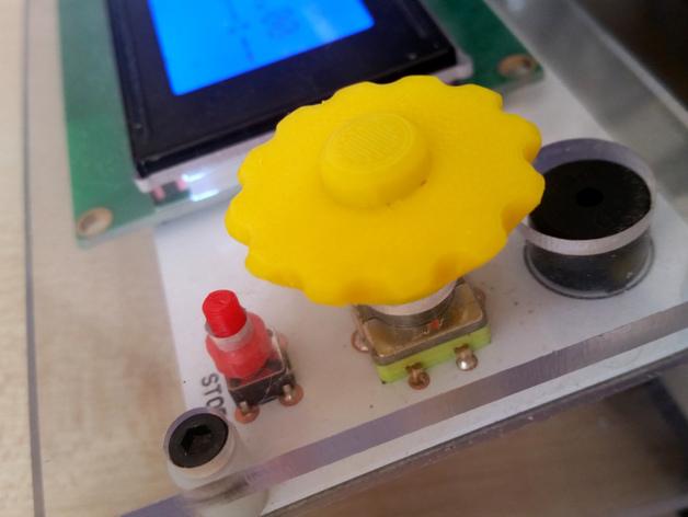 控制器旋钮 3D打印模型渲染图