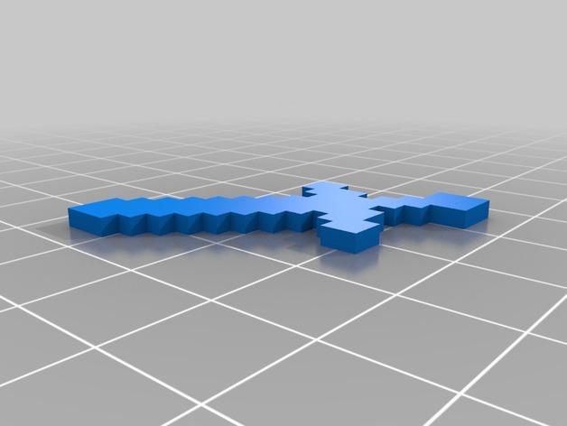 我的世界 剑 3D打印模型渲染图