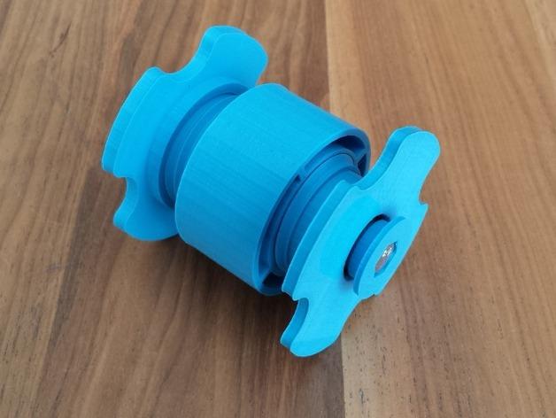 低摩擦线轴支架 3D打印模型渲染图