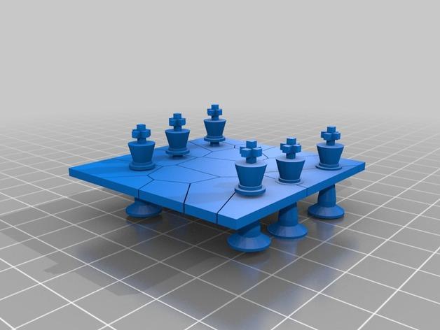 国际象棋 棋子  3D打印模型渲染图