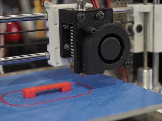 prusa i3打印机风扇支架 3D打印模型渲染图