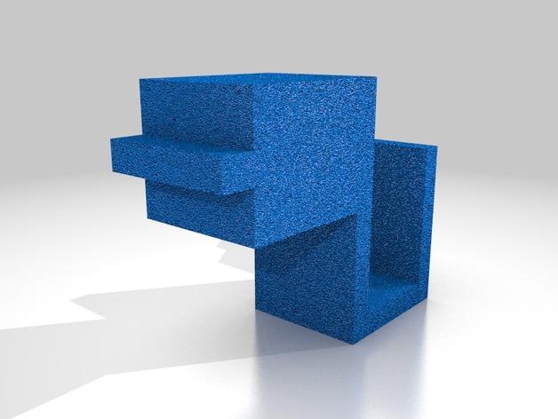 Kossel 打印机热床外框 3D打印模型渲染图