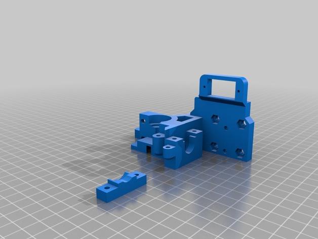 prusa i3打印机挤出机 3D打印模型渲染图