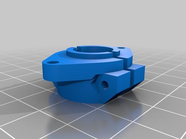 3Drag/K8200打印机喷头适配器 3D打印模型渲染图