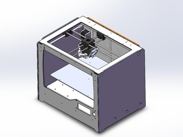 Jenny 3D打印机 3D打印模型渲染图