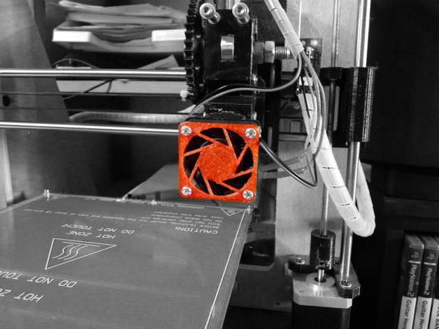 传送门风扇罩 3D打印模型渲染图