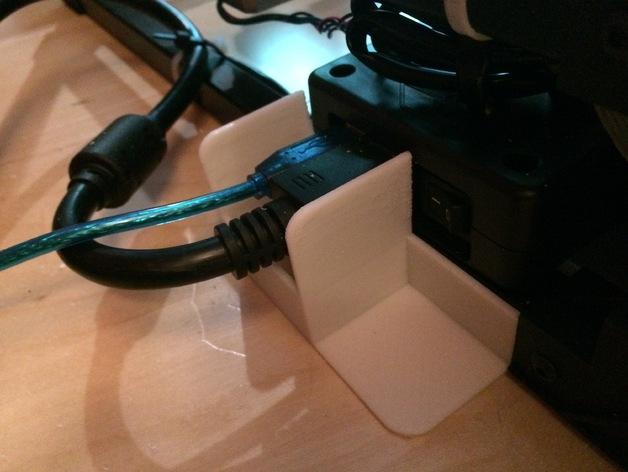 RigidBot打印机电缆插槽保护器 3D打印模型渲染图