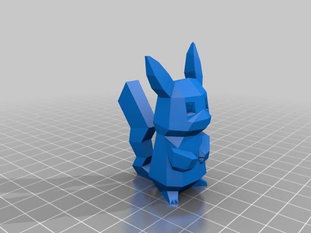 皮卡丘 3D打印模型渲染图