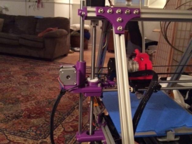打印机X轴导螺杆连接器 3D打印模型渲染图
