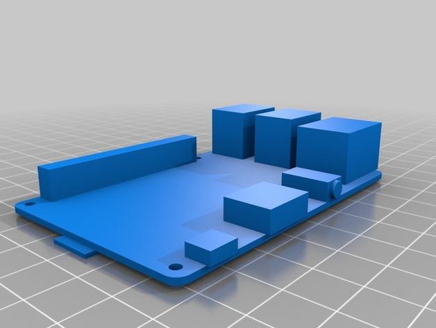树莓派电路板保护壳 3D打印模型渲染图