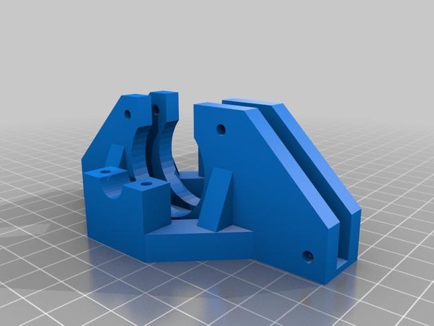 Prusa i3打印机框架撑脚 3D打印模型渲染图