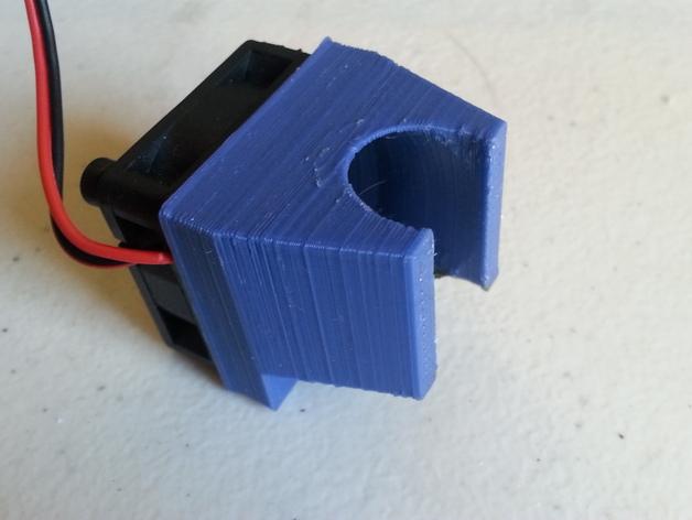 打印机喷头风扇罩 3D打印模型渲染图