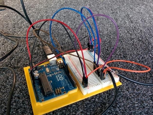 电路板适配器 电路面板 3D打印模型渲染图