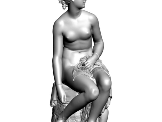 Nymph Untying雕塑模型 3D打印模型渲染图