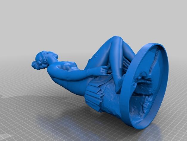 Nymph Untying雕塑模型